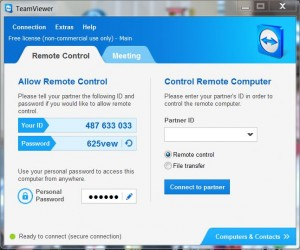 Teamviewer on the PC